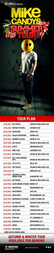 Mike Candys Summer Tour 2012